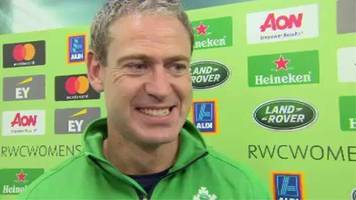 ireland coach tom tierney relieved as his side earn 'ugly win' in world cup opener