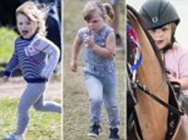 mike and zara tindall's mini mia!
