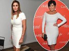 caitlyn jenner wears same  bandage dress as ex-wife