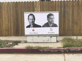 guerrilla street art appears in support of fired google engineer james damore