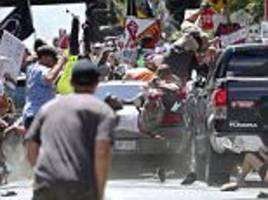 Moment car hits crowd at Charlottesville rally