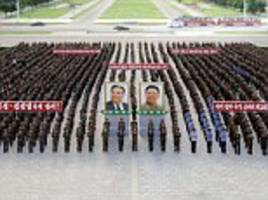 North Korean workers rally amid war of words with Trump