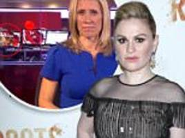 anna paquin's breasts photobombed bbc news at ten