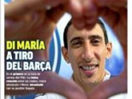 barcelona eye angel di maria on lionel messi request