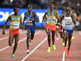 Mo Farah misses out on 5,000m gold at World Championships