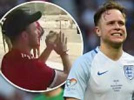olly murs video of expletive-filled chant at real madrid