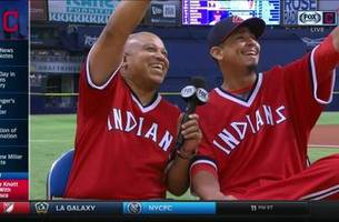 Carlos Carrasco is glad he didn't have to pitch in '70s throwbacks