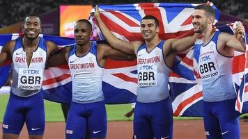 Great Britain claim world 4x100m world gold as Usain Bolt pulls up in final race