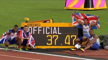 World Athletics Championships 2017: Great Britain wins stunning relay gold as Bolt pulls up