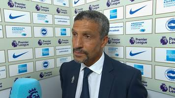 Brighton 0-2 Man City: Chris Hughton says plenty of positives from defeat