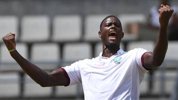 derbyshire v west indies: jason holder helps tourists dominate at derby
