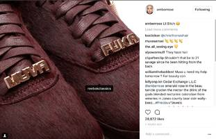 amber rose gives everyone an insanely close look at her new muva f*ka sneakers