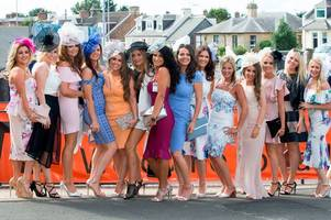 made in chelsea star spencer matthews among revellers at ayr racecourse as girls put on eye-catching display for qts ladies night