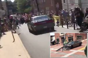 This was terrorism: One protester confirmed dead after 'motorist deliberately drives into anti-Nazi activists' at white supremacist rally