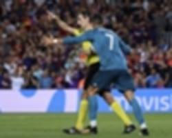 Ronaldo deserves lengthy ban for pushing referee as Barca flop without Neymar