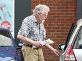 rolf harris spotted by shoppers at screwfix