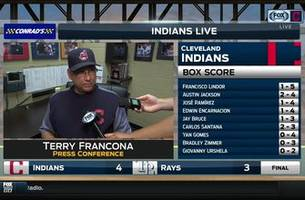 terry francona was pleased to see his bats pick up kluber