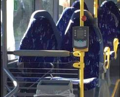 no, they're not burqas - they're bus seats