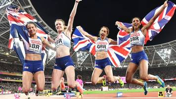 World Athletics Championships 2017: GB women claim silver in 4x400m final as USA take gold