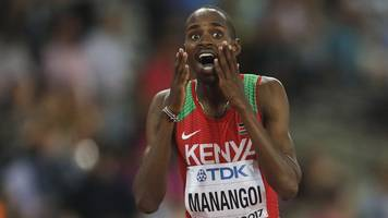 World Athletics Championships 2017: Gold for Elijah Manangoi in 1500m final