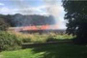Emergency services rush to Brentwood blaze after 'children...