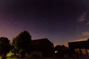 your pictures of the perseid meteor shower over cambridge