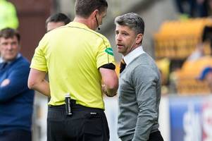 Motherwell boss Stephen Robinson hits out after ref's red card blizzard leaves Steelmen down to eight players