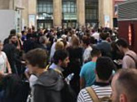 paris station evacuated after eurostar bomb scare