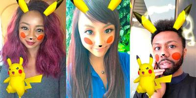 snapchat added a new limited-time lens that turns you into pikachu