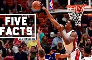 five facts about the miami heat's 2017-18 schedule