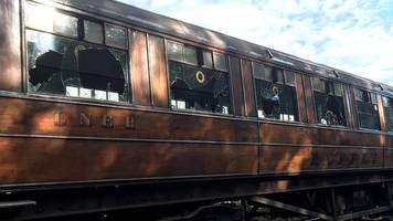 vandalised downton abbey carriages back in service