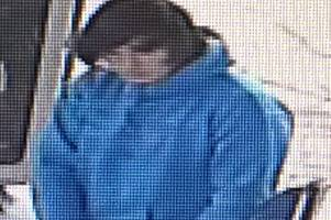 police want to speak to this man after driver left bp garage without paying for fuel