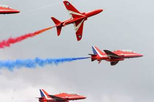 The Red Arrows are flying over Bristol this week and here's how to see them