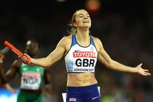 frome runner emily diamond helps great britain to relay silver medal in world athletics championships