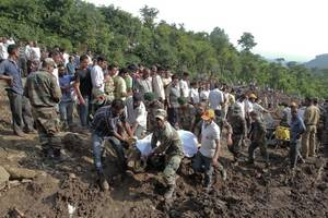 Rescuers pull out 46 bodies after landslide hits north India
