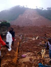 Sierra Leone mudslide kills at least 200 people including 60 kids after buildings are flattened ...
