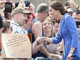 why the duchess of cambridge never signs autographs