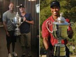 Tiger Woods with US PGA Championship winner Justin Thomas