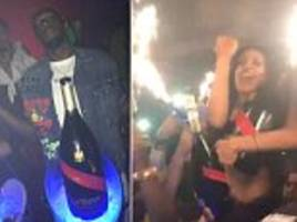 Usain Bolt and girlfriend Kasi Bennett party in London