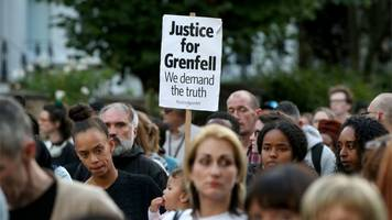 Grenfell Tower fire: Hundreds march silently two months on