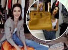 kendall jenner takes fans on a tour of her closets
