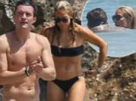 orlando bloom with mystery blonde after katy perry date