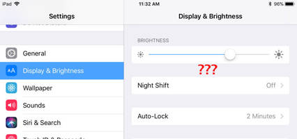 Apple doesn't want you to set your own brightness in iOS 11