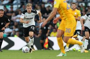 half-time report: derby county and preston north end goalless at the break in championship game