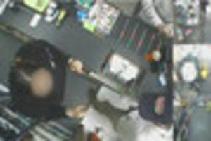 CCTV shows moment women robbed Plymouth corner shop with weapon
