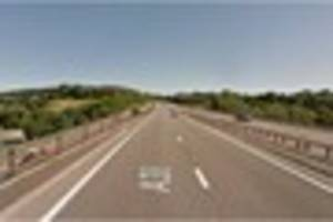 Concrete mixer collides with car on A38 leaving one lane blocked