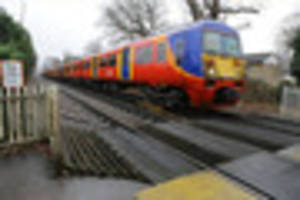 London Waterloo train derails causing disruption all day on South...