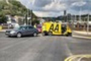 Police are hunting for the driver of a car who fled the scene of...