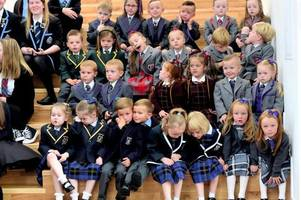 double the trouble as 13 sets of twins start school in same region