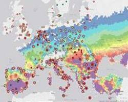 heat map showcases extreme temperatures in southern europe